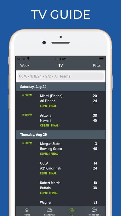Air Force Football Schedules screenshot-6