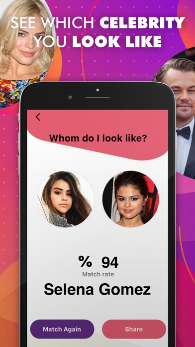 Screenshot of My Replica - Celebrity Like Me App