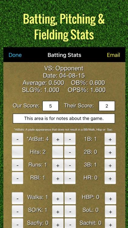 Softball Stats Tracker Pro screenshot-0