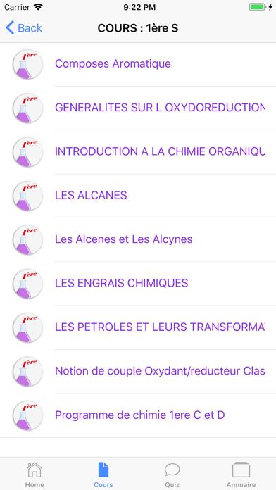 Cours de Chimie screenshot 4