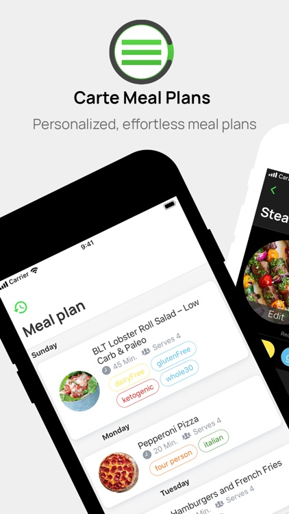Carte - Easy Meal Plans