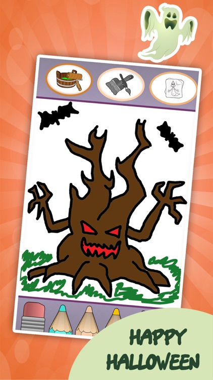 Coloring book : Draw Halloween screenshot-3