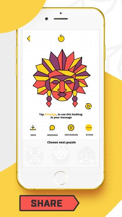 Trio - Polygon Coloring Puzzle screenshot 5