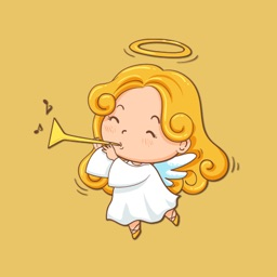 White Wings Angel Stickers