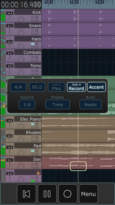 MultiTrack DAW screenshot
