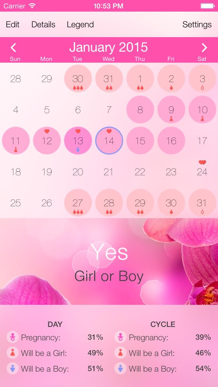 Menstrual Cycle Tracker X Screenshot