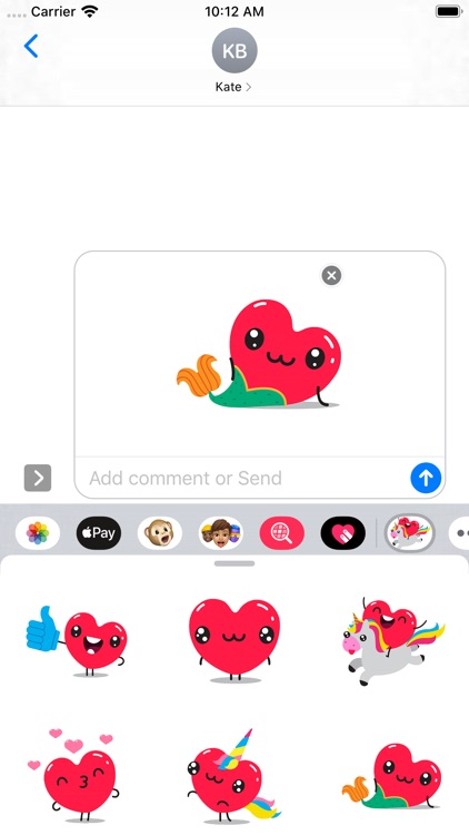 Hearts Stickers