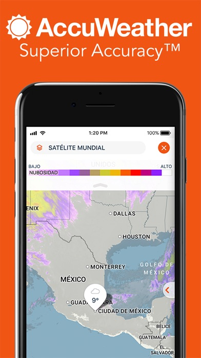 Screenshot for AccuWeather: rastrear tiempo in Colombia App Store
