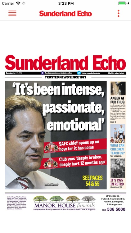 The Sunderland Echo Newspaper