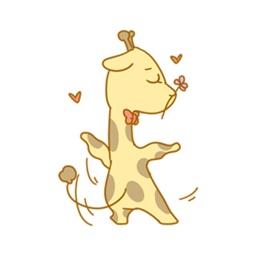 Here comes the giraffe
