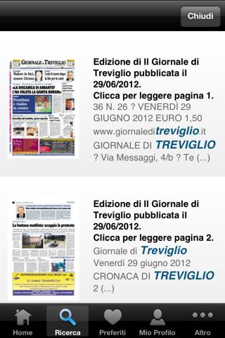 Giornale di Treviglio - náhled