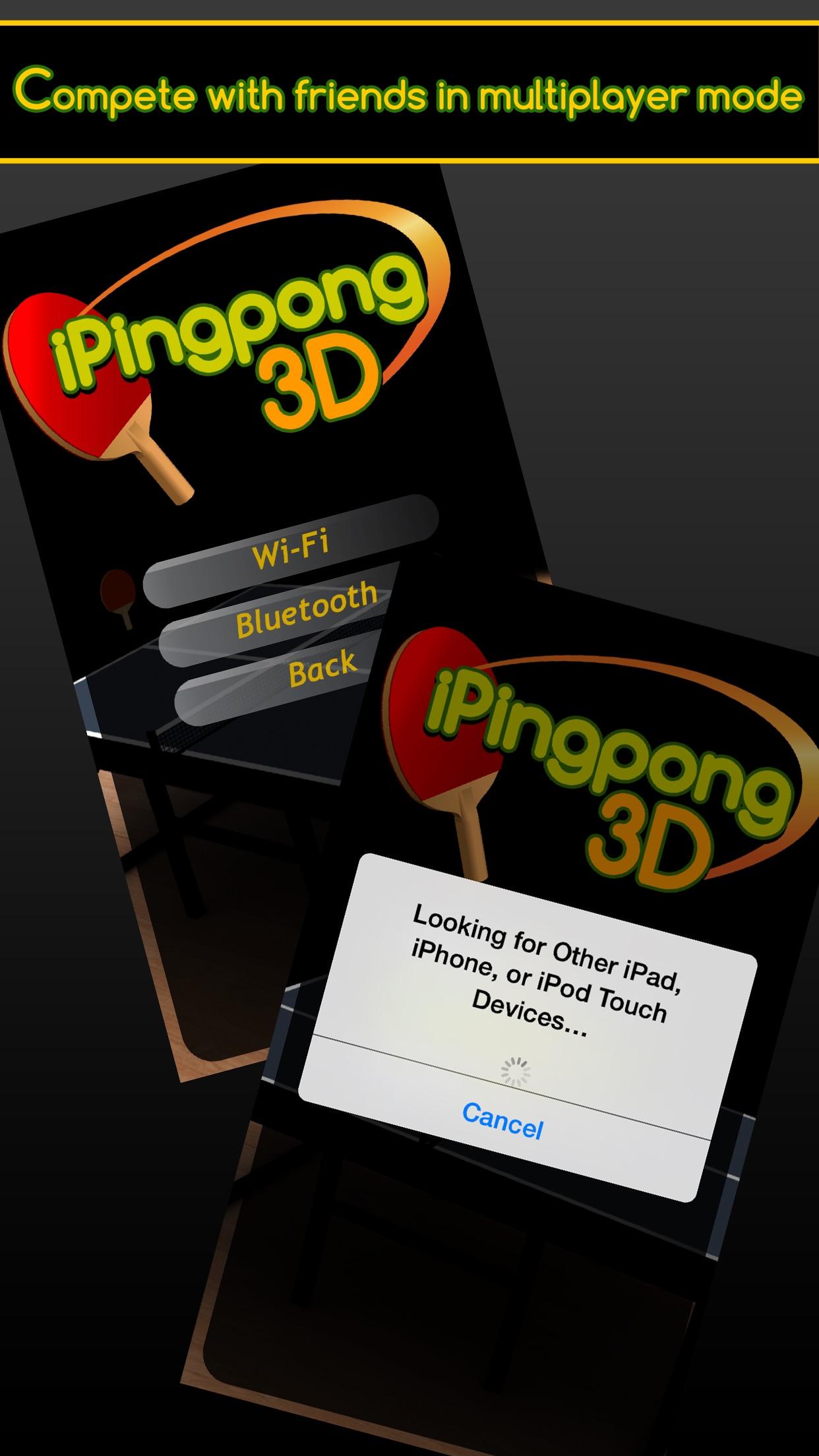 Screenshot do app iPingpong 3D