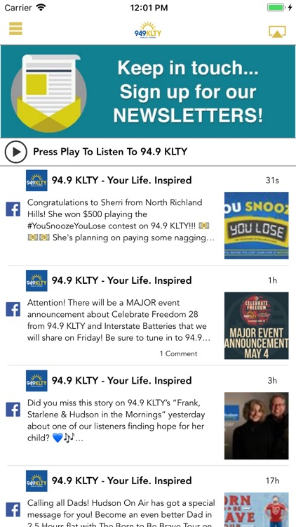 94 9 klty by salem radio operations llc appadvice