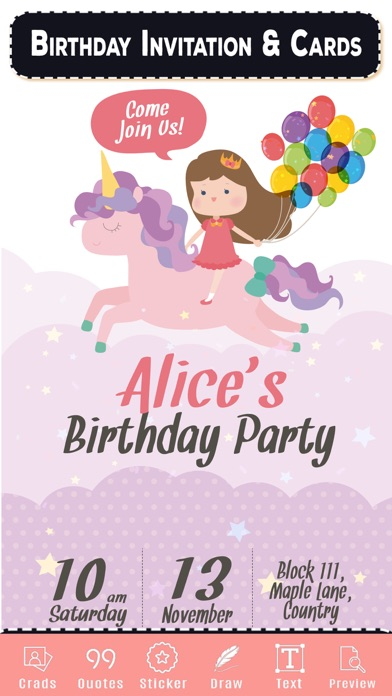 Birthday Invitation & Cards screenshot two