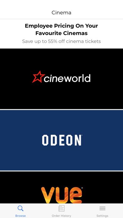 Cinema - Perks at Work screenshot one