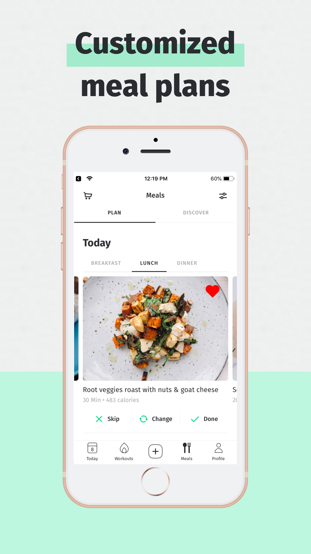 8fit Workouts & Meal Planner Screenshot