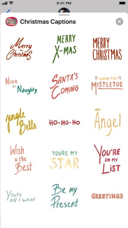 Christmas Captions by Nabil Berhnich