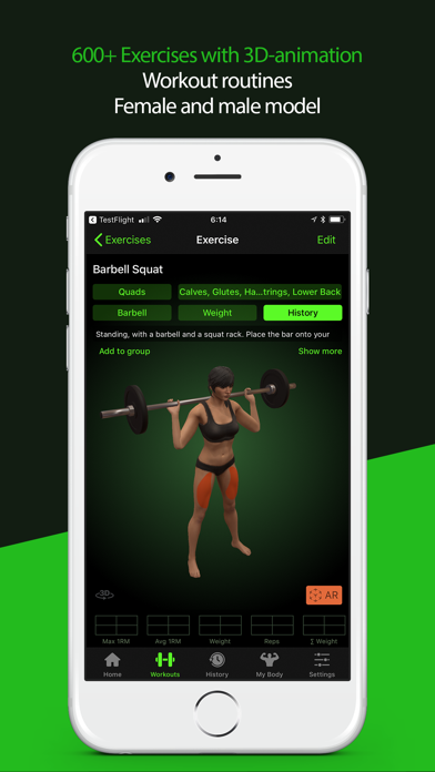Screenshot #3 pour Gymaholic Workout Tracker