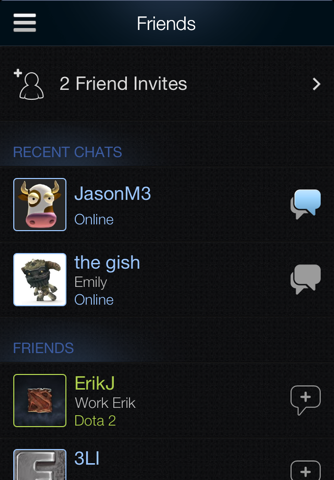 Скриншот из Steam Mobile