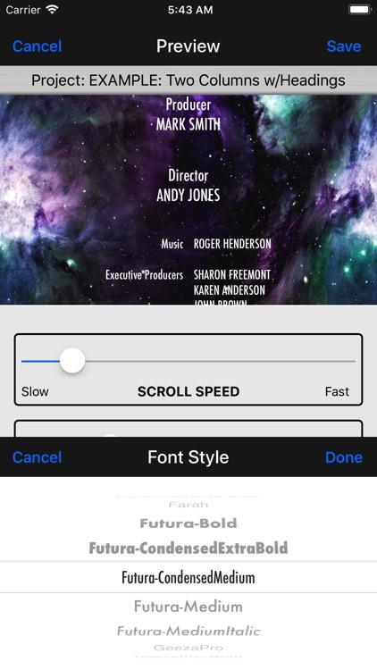 Scrolling Credits Pro screenshot-8