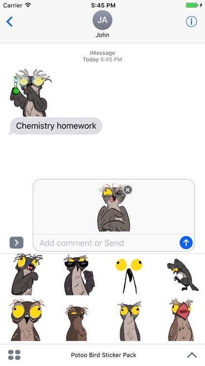 Potoo Bird Sticker Pack screenshot-3