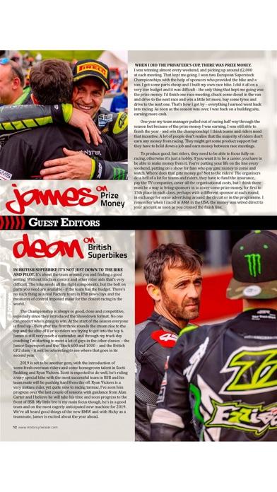 Motorcycle Racer Magazine screenshot 3