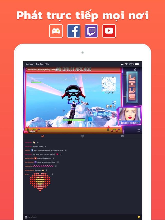 Omlet Arcade: Phát trực tiếp
