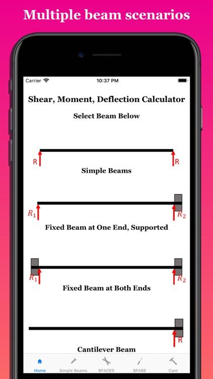 Shear Moment Deflection Calc by Rhyno Engineering LLC