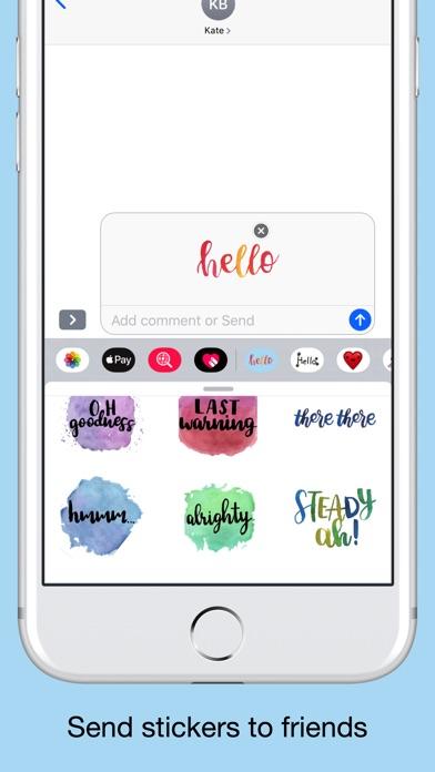 Quick words - text stickers screenshot 4