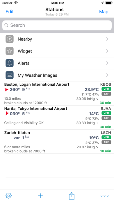 AeroWeather Lite screenshot one