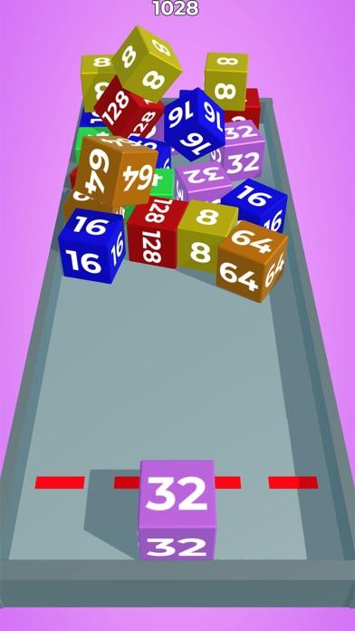 Chain Cube: 2048 3D merge game screenshot 1