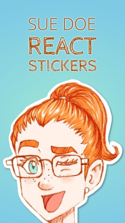 Sue Doe React Stickers