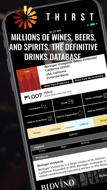 Thirst - Wine, Beer, Spirits