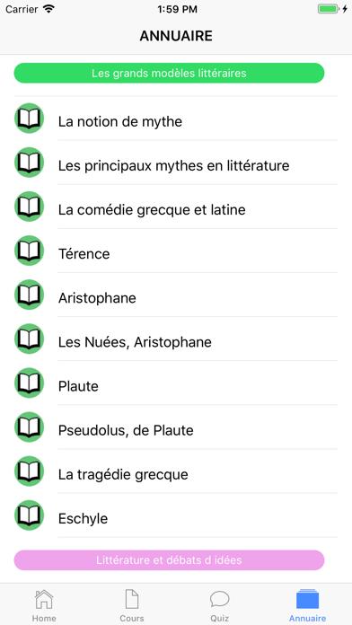 Cours de Littérature screenshot 6