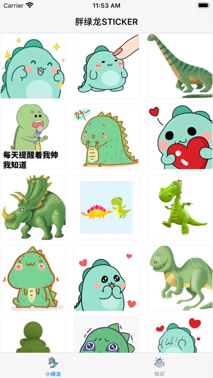 胖绿龙-STICKER screenshot-1