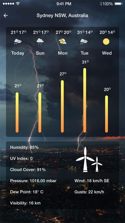 Dark Weather - The Weather App