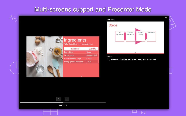 Screenshot do app Slideas- Markdown Presentation