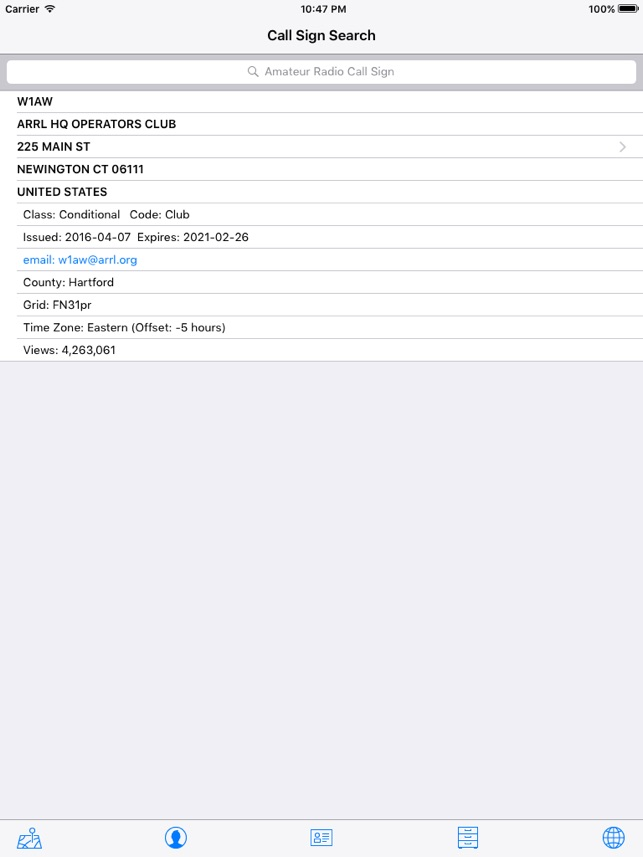 Callsign Search on the App Store