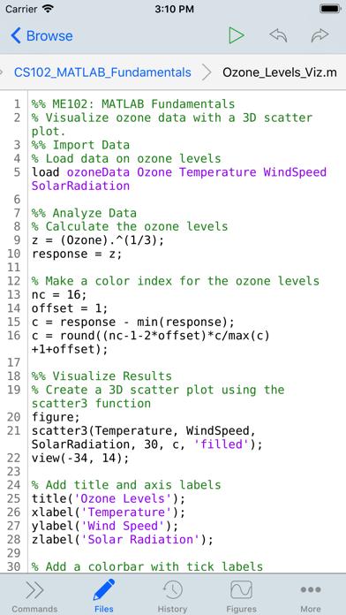 Matlab Mobile review screenshots