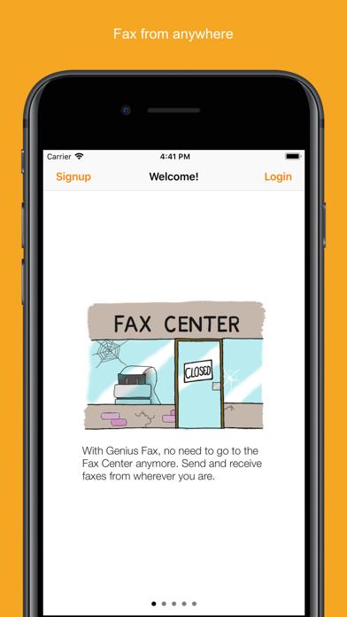 Genius Fax - Fax PDF documents Screenshot