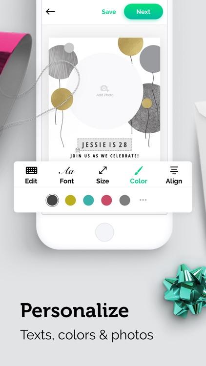 Invitation Card Maker App screenshot-3