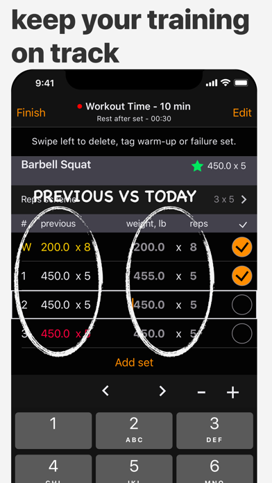 PumpNlog - Workout Log & Journal For Bodybuilding, Gym, Weightlifting, Strength & Motivation screenshot