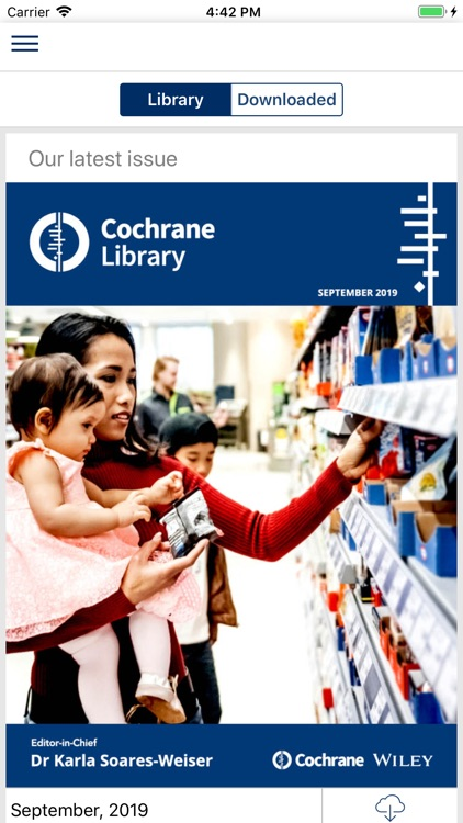 Cochrane Library screenshot-0