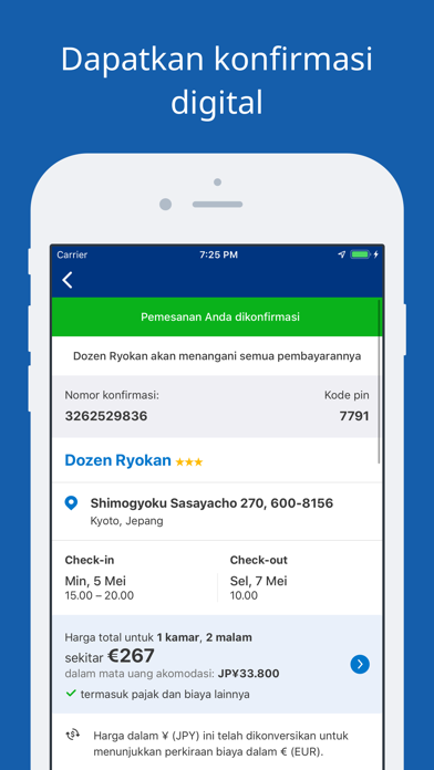 Screenshot for Promo Perjalanan Booking.com in Indonesia App Store