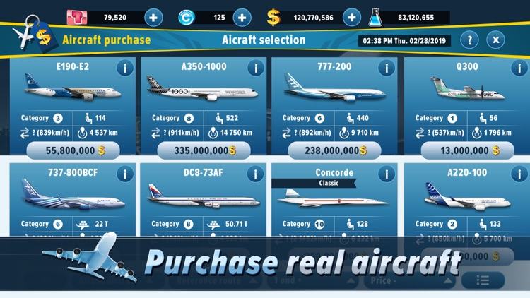 Airlines Manager : Tycoon 2019