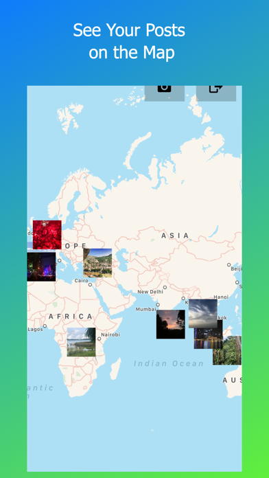 Screenshot #2 pour World Map for Instagram