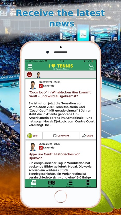 Sports News Tennis edition screenshot-1