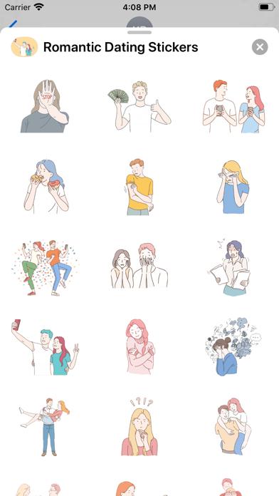 Romantic Dating Stickers screenshot 1