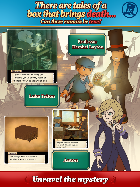 Layton: Diabolical Box in HD Screenshots