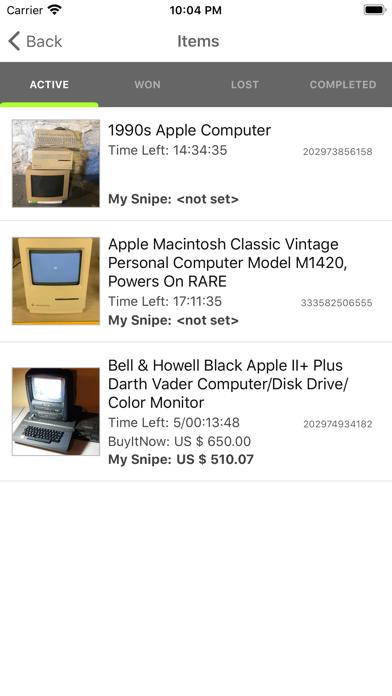 Myibidder Auction Bid Sniper Screenshot